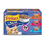 Purina Friskies Gravy Wet Cat Food Variety Pack, Seafood Prime Filets...