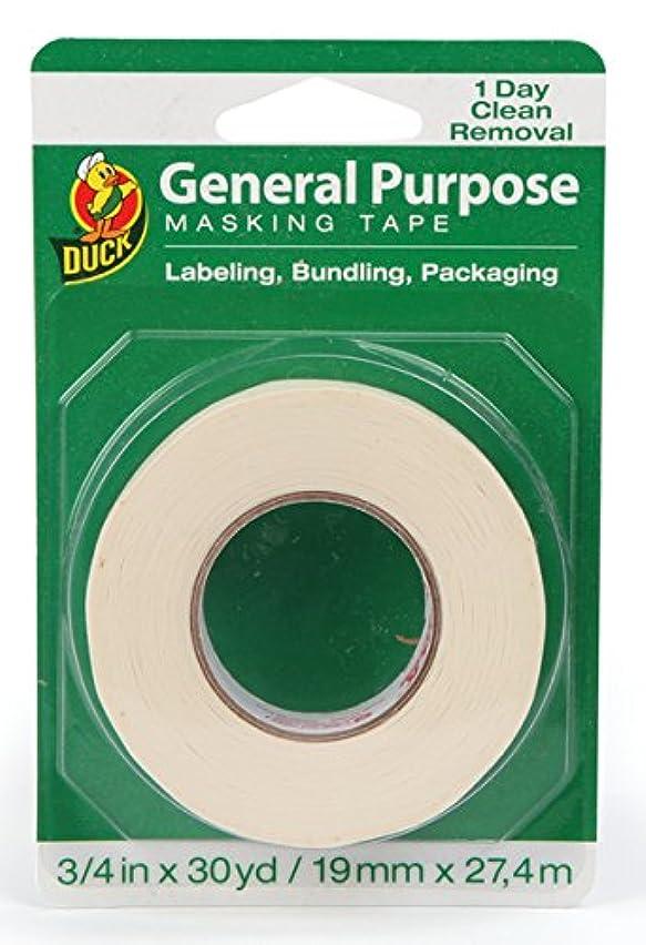 Duck Brand 394706 General Purpose Masking Tape, 0.75-Inch by 30-Yard, Single Roll, Beige