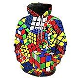 3D Hoodies Print Play Game Console Rubik's Cube Slim Unisex Slim Stylish Hooded Hoodies 0640 L