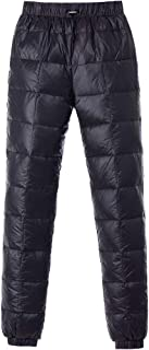 Tapasimme Men's Women Winter Warm Utility Down Pants Sassy High Waisted Nylon Compression Snow Trousers