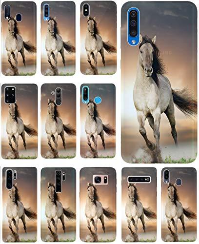 KX-Mobile Hülle für WIKO Robby Handyhülle Design 1005 Pferd Braun Weiß Hengst aus flexiblem Silikon SchutzHülle Softcase HandyCover Hülle für WIKO Robby