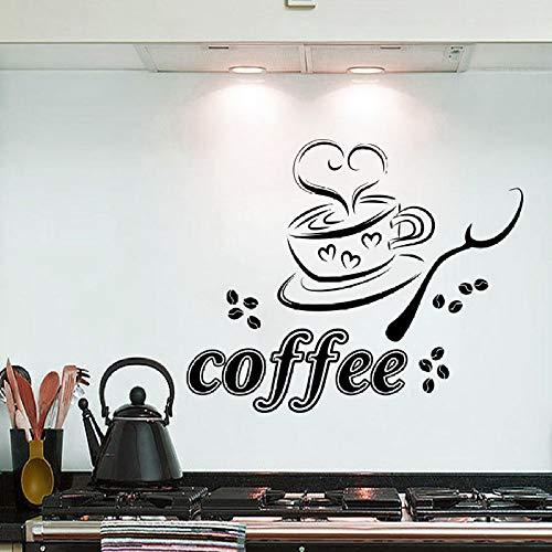 Fototapete Kaffeetasse Herz Café Restaurant Küche Vinyl Aufkleber decoration50X70cm