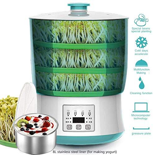 Germoir hat Seeds Seed Keimgerät automatische Maschine 2 / 3couche Von Sprossen Soja ohne Bpa High Capacity Vollautomatische (+ Platte Extra) Reinigung verbessern,3 Layers