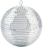Alytimes Mirror Disco Ball - 8-Inch Cool and Fun Silver Hanging Party Disco Ball –Big Party Decorations, Party Design
