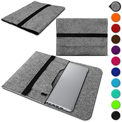 UC-Express Sleeve Tasche für Acer Spin 3 - Spin 5 - Spin 5 Pro - Spin 7 13,3-14 Zoll Hülle Filz Schutzhülle Case, Farbe:Hell Grau