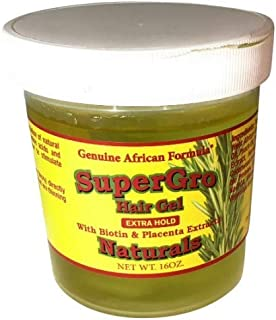 African Formula SuperGrow Hair Gel Extra Hold 16 oz