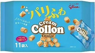 江崎グリコ クリームコロン 大袋 ミルク 11袋入×3