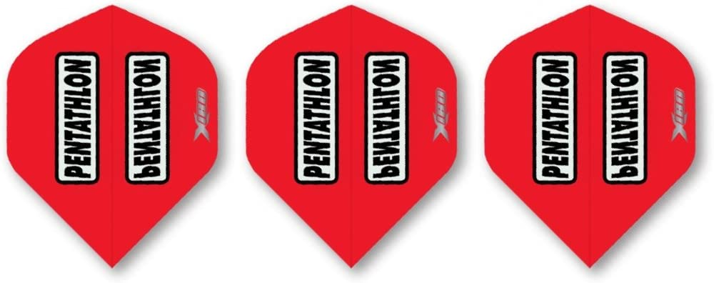 180 Mikron Extra Stark Britannia Darts 9 St/ück Pentathlon HD180 Flights Standard Schwarz