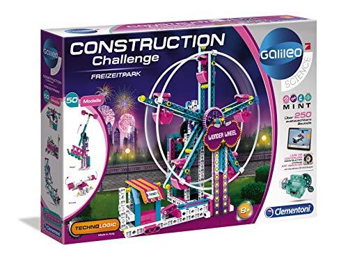 Clementoni 59192 Galileo Science – Construction Challenge Freizeitpark, Bausatz für Riesenrad, Schaukel & Co., Mechanik & Technik, Spielzeug für Kinder ab 8 Jahren