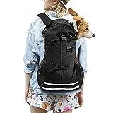 dojeep Pet Carrier Backpack for Dog, Adjustable Pet Front Cat Dog Carrier Backpack Travel Bag, Breathable Mesh Pet Supplies Backpack for Dog Cats (X-Large, Black)
