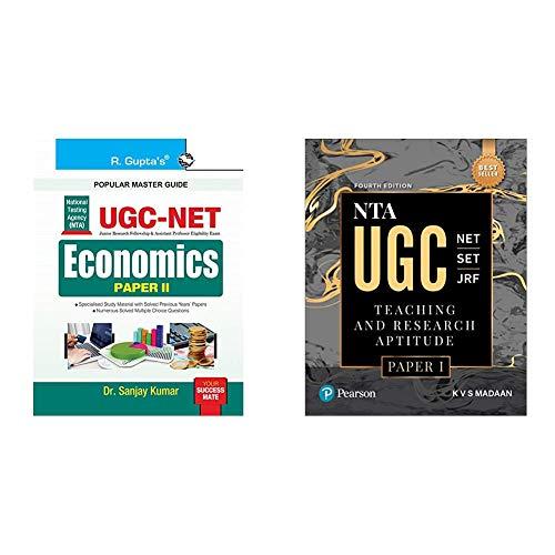 NTA-UGC-NET: Economics (Paper II) Exam Guide+NTA UGC NET/SET/JRF: Teaching & Research Aptitude Paper 1 | By Pearson(Set of 2 books)