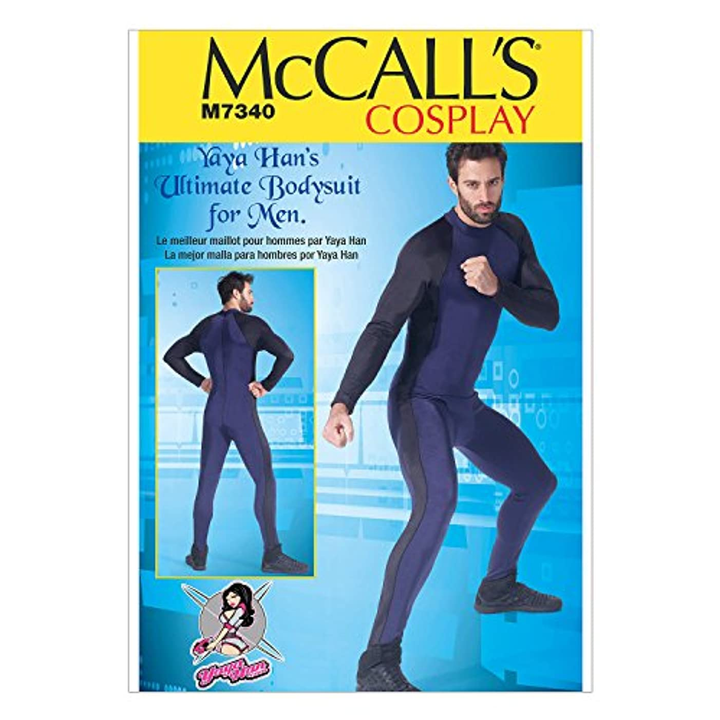 McCall's Patterns M7340 Men's Zippered Body Suit by Yaya Han, MWW (38-40-42-44)