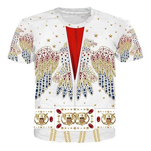 Elvis Presley T-Shirt Classica dallo Stesso Stile Casual Manica Corta per Uomo e Donna Costume Cosplay Elvis