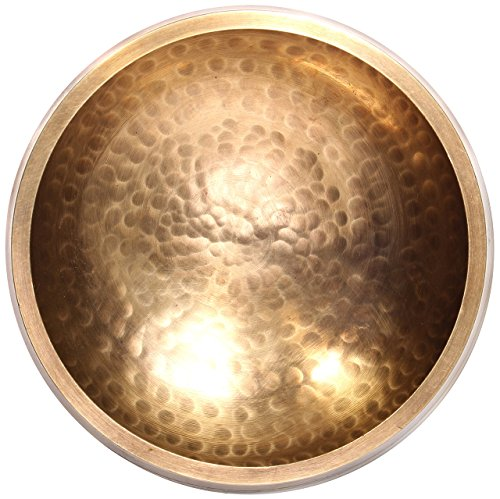Original Tibetische Klangschale 12cm. Klangschalen Set mit Klöppel und Klangschalenkissen in Loktapapier Geschenk-Box. Singing Bowl aus Tibet - 4