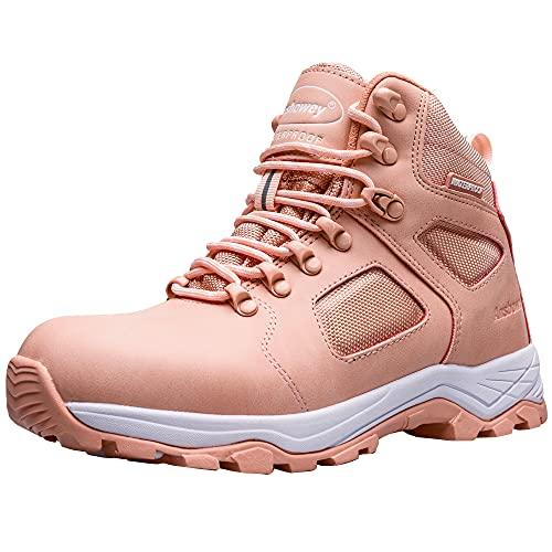 Ansbowey Buty turystyczne męskie damskie wodoodporne buty trekkingowe lekkie buty trekkingowe na zewnątrz buty do chodzenia buty robocze, - A9703różowy - 38.5 EU