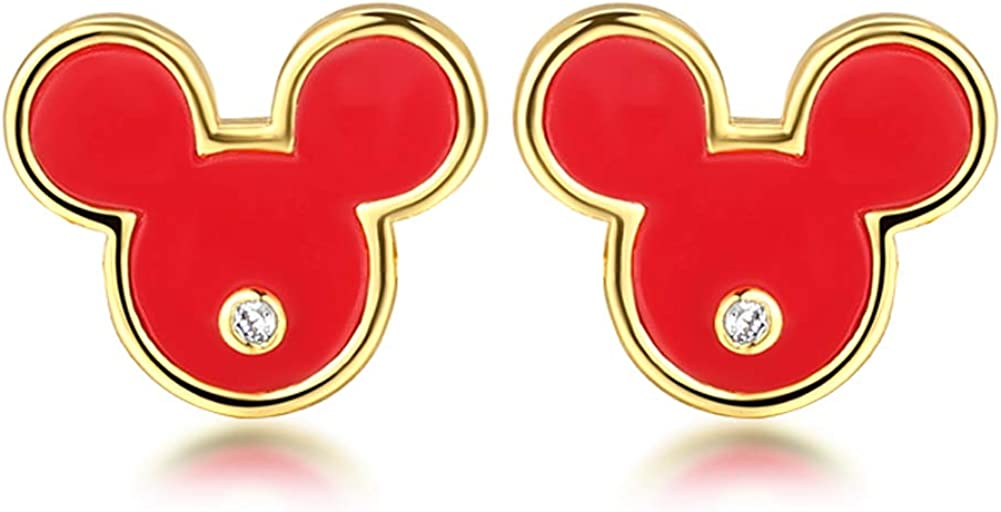Deelan Fashion Mickey Surprise price shopping Mouse Stud Earrings Red Women For Girls Lu