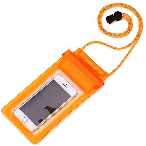 RE:CRON® Handy Schutztasche wasserdicht - orange transparent