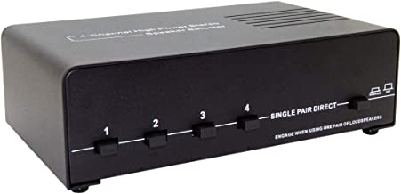 E-SDS 4 Zone Stereo Speaker Selector Switch with Impedance Protection