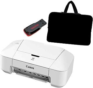 طابعة صورة ملونة من كانون PIXMA iP2840 مع حقيبة لابتوب مقاس 15.6 انش مع ذاكرة 8 جيجا من سانديسك