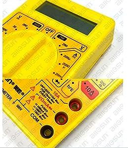ملتيميتر رقمي لفحص وقياس فولتية التيار الكهربائي المتقطع ايه سي والتيار الكهربائي المباشر دي سي مصمم للتمكن من حمله - DT830B - H1764