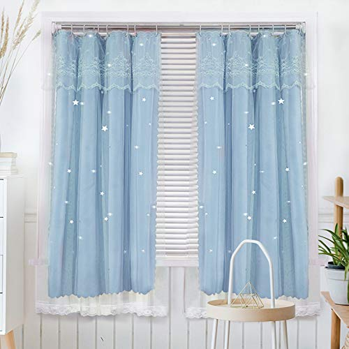 BOLO Voile Curtains Semi-Transparent Window Sheer Curtain Drapes Eyelet Top for Light Filtering Modern Net Sheer for Bedroom/Living Room,1.0x1.0M