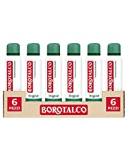 Borotalco, Deodorante Spray Original con Microtalco, Assorbe il Sudore, Senza Alcool - 6 Flaconi da 150 ml