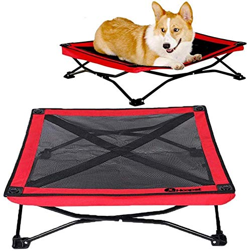 HizoeChu Detachable Elevated Dog Bed,Bed Pet Cot Folding Raised Pet,Portable Dog Bed with Steel Frame and Lifted Cooling Mesh Hammock Best ForIndoor Outdoor Extra Large Medium Small Dogs(S/M)