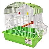 BPS Jaula para Pájaro Pajarera Periquito Canarios con Comedero Bebedero Saltado Perchas para Descanso Color al Azar 27.5x19.5x30cm BPS-1163