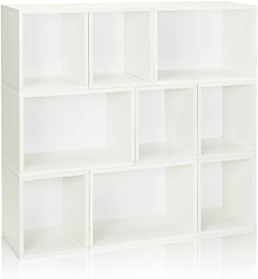 Way Basics Eco Stackable Oxford Modular Bookcase Storage Shelf White