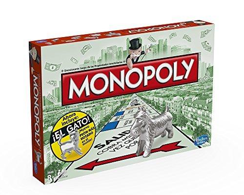 Monopoly Hasbro Gaming - Juego de Mesa clásico, versión española (Hasbro 00009546)