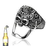Ouvre-bouteille tête de mort, anneau porte-clés ouvre-bouteille tête de mort, ouvre-bouteille de bière avec attrape-bouchon magnétique, barman à la maison Restaurant Décor fait Creative Bar Party Bagu