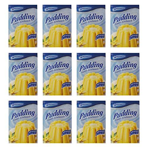 12er Pack Komet Pudding Vanille-Geschmack (12 x 40 g) Puddingpulver Puddingdessert Dessert Dessertpulver