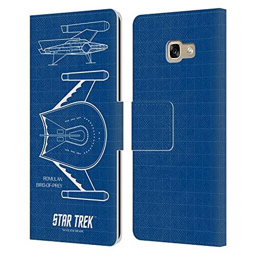 Head Case Designs Licenza Ufficiale Star Trek Bird of Prey Romulana Nave della Linea TOS Cover in Pelle a Portafoglio Compatibile con Samsung Galaxy A5 (2017)