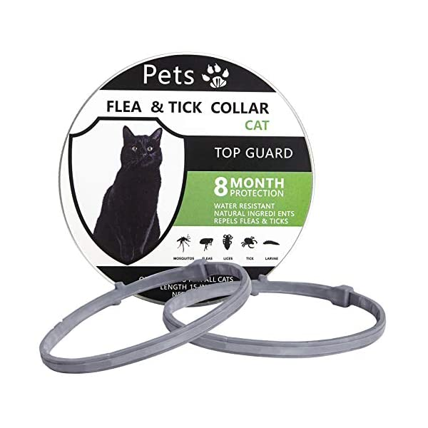 2 Pack Cat Flea Collars, Lasting Flea and Tick Collar for Cats, Easy to Repels Fleas...