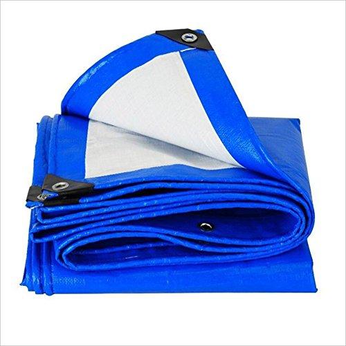 QIANGDA Bâche De Protection Couverture Couverture Bleue Protège Le Bois Résistance À La Corrosion Anti-âge Pliage Facile -160g / M², Épaisseur 0,29mm, 12 Tailles Facultatives, Taille Personnalisé