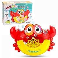 SHOUGONG バブルガンかわいいカエルの自動バブルマシン石鹸水バブルブロワー音楽屋外玩具のために子供たちのおもちゃ (Color : Crab With box)