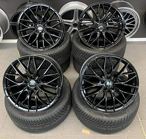 4 x 18 Zoll MM-CONCEPTS MM01 Alu Felgen 8x18 5x120 ET30 schwarz glanz lackiert für 3er E36 E46 E90 E91 E92 E93 F30 F31 F34 4er F32 F33 F36 M4 335 435 M-Paket M-Performance CSL NEU