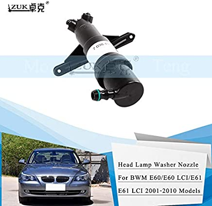 Wipers Hukcus Headlamp Headlight Spray Nozzle Washer Actuator For BMW 5 SERIES E60 E61 520 523