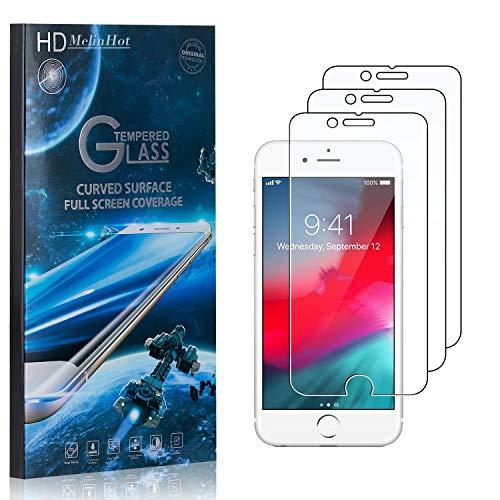 MelinHot Displayschutzfolie für iPhone 8 Plus/iPhone 7 Plus, 99% Transparenz Schutzfilm aus Gehärtetem Glas, 9H Härte, Keine Luftblasen, 3D Touch, 3 Stück