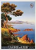 Buyartforless La Cote d'Azur Riviera by M. Tamgry 36x24