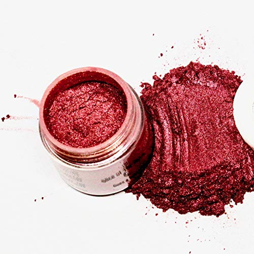 Slice Of The Moon: Amaranth Red Mica Powder, Cosmetic Grade Mica Powder 15g, Metallic Ruby Red, Cosmetic Grade for Lipstick Lip Gloss Bath Bombs Epoxy Resin Face Blush Powder Eye Pencil Dye Pigments Candle Making