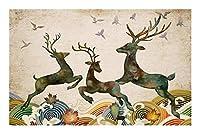JCXOZ 大人の子供のための500から5700ピースジグソーパズル - 平和-uniqueカット連動作品のラッキー鹿と鳩(木製環境保護) ジグソーパズル (Size : 5700pc)