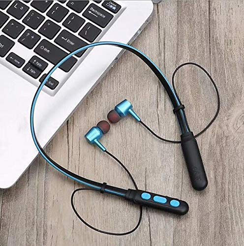 esportic B11 Neckband Bluetooth Headphones Wireless Sport Stereo Headsets Hands-Free Earphone with Inbuilt Mic for All Smartphones & Tablets. (Multi Colored)