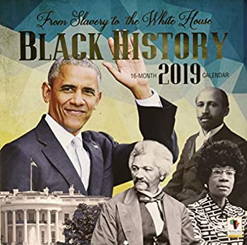 Black Cards WC165 from Slavery to The White House 2018 Wall Calendar Brown