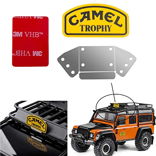 XUNJIAJIE Metal Camel Trophy Logo with Bracket 1/10th Scale Crawler Auto Zubehör for SCX10 D90 D110 TRX4