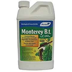 Biological Insecticide Controls Worms & Caterpillars on Fruits, Vegetables, Ornamentals & Shade Trees Easy-To-Mix Liquid Concentrate Bt kurstaki Quart