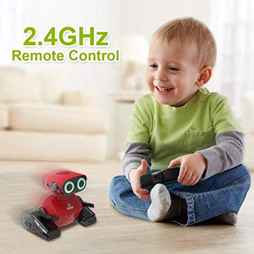 GILOBABY RC Robot Car, 2.4GHz Remote Control Robot Toy for Kids with Shine Eyes, Dance Moves, Gift for Kids Boys Girls