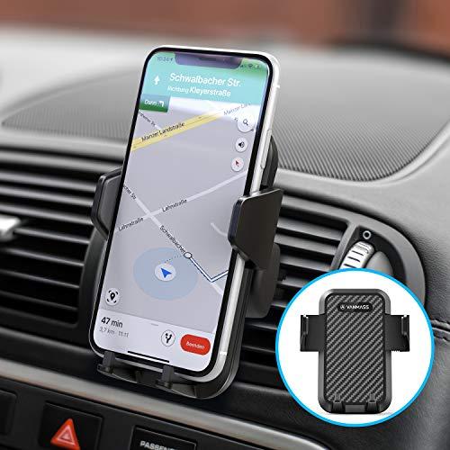 VANMASS Handyhalterung Auto Handyhalter fürs Auto Lüftung [Upgrade 3.0 Sicherer Stabiler Flexibler] Mit 2 Lüftungsclips Universale Kfz Handyhalterung für alle Smartphones iPhone/Samsung/Huawei