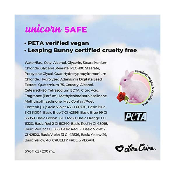 Lime Crime Unicorn Hair Dye, Sea Witch - Rich Teal Fantasy Hair Color - Full Coverage, Ultra-Conditioning, Semi… 9