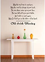 Design with Vinyl 3 Zzz 567 Decor Item Old Irish Blessing Quote Wall Decal Sticker, 20 x 20-Inch, Black